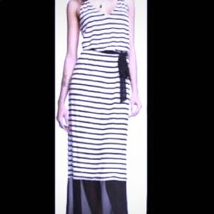 Express Black and White striped maxi